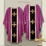 OG-HM-3C ROMAN PURPLE - GOTHIC CHASUBLE