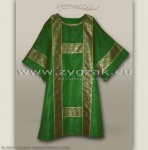 DS-ROZ-GT GREEN SEMI-GOTHIC DALMATIC