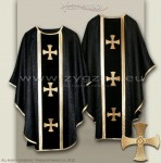 OG-HM-3C BLACK - GOTHIC CHASUBLE