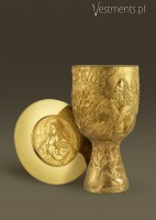 # 140/583 CONTEMPORARY CHALICE WITH PATEN