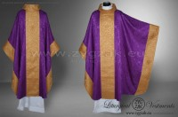 OM-GBRO-1 MONASTIC STYLE CHASUBLE - PURPLE/DARK GOLD