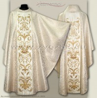 OG8-HM-2 MAR BROCADE GOTHIC CHASUBLE
