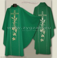 OG-HM-X-2 GREEN GOTHIC CHASUBLE