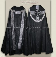 KS-HM-1 ROZ-GT BLACK SEMI-GOTHIC COPE