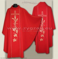 OG-HM-X-2 RED GOTHIC CHASUBLE