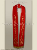 SG-HM-1 RED GOTHIC STOLE