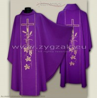 OG-HM-X-2 PURPLE GOTHIC CHASUBLE