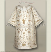 DR-HR-4 WHITE ROMAN DALMATIC