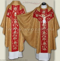 OG-HR-P-2 METAL GOLD - GOTHIC CHASUBLE