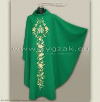 OG-HM-IHS-7 GREEN GOTHIC CHASUBLE