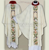"OG7-HM-1 ""FLO"" RICHLY EMBROIDERED GOTHIC STYLE CHASUBLE"