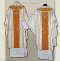 OG-HM-06 GOTHIC STYLE CHASUBLE WITH EMBROIDERED VELVET PANELS
