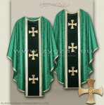 OG-HM-3C GREEN - GOTHIC CHASUBLE