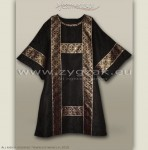 DS-ROZ-GT BLACK/GOLD SEMI-GOTHIC DALMATIC
