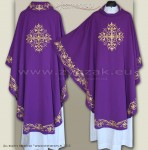 OG-HMS-11 PURPLE GOTHIC CHASUBLE