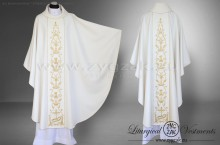 "OG-HM-16 WHITE -  GOTHIC CHASUBLE ""THE SACRAMENT OF MATRIMONY"""
