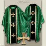 OG-HM-4C GREEN - GOTHIC CHASUBLE