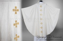 OG-HM-X-14 IVORY / LIGHT GOLD GOTHIC CHASUBLE - LIGHT GOLD