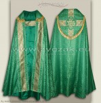 KS-HM-1 ROZ-GT GREEN SEMI-GOTHIC COPE