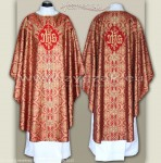 OS-BRO-GT2 RED/GOLD BROCADE SEMI-GOTHIC LOW MASS SET