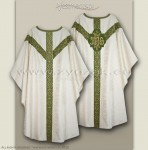OS-ROZ-GH WHITE/OLIVE IHS SEMI-GOTHIC LOW MASS SET
