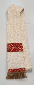 DEACON'S STOLE - GH design - SEMIGOTHIC STYLE - DECORATED WITH EMBROIDERED ORPHREYS