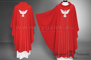 OG-HM-D-5 GIFTS OF THE HOLY SPIRIT GOTHIC STYLE CHASUBLE