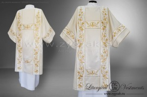 DS-HMS-11B  RICHLY EMBROIDERED GOTHIC STYLE DALMATIC