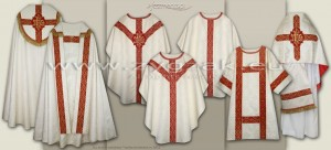 S-HMS-2C (ROZ-GH) SEMI-GOTHIC STYLE CONCELEBRANT HIGH MASS SET