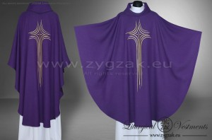 OG-HM-X-10 GOTHIC CHASUBLE - PURPLE