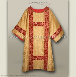 DS-BRO-GH DARK GOLD/RED SEMI-GOTHIC DALMATIC
