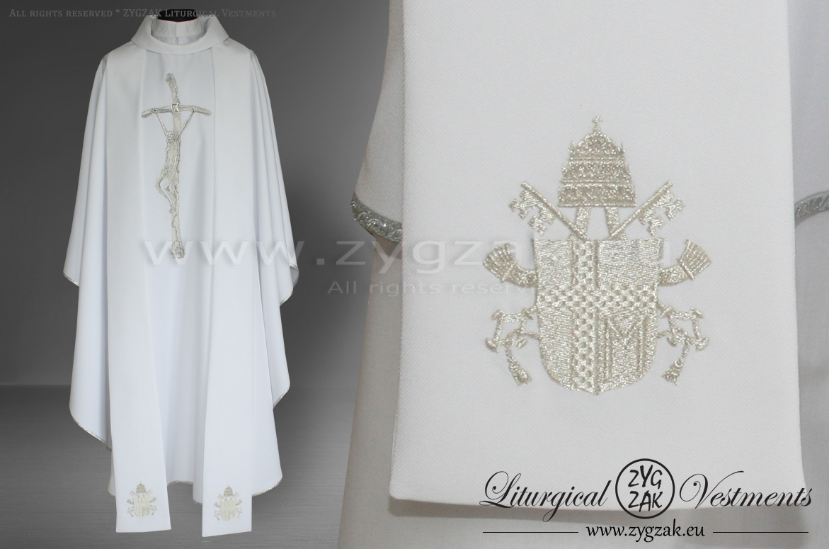 "OG-HM-X-9 GOTHIC CHASUBLE with ""PAPAL CRUCIFIX"""